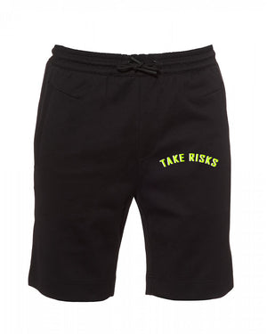 Take Risks (Black/Slime Green) Statement Shorts