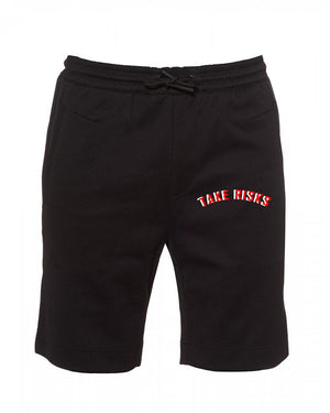 TAKE RISKS | STATEMENT SHORTS - BLACK/RED