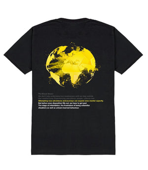 TAKE RISKS | COMBUSTION T SHIRT - BLACK/YELLOW