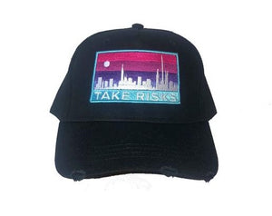 TAKE RISKS | SKYLINES CAP - BLACK