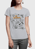 Image of DOODLE Half Sleeves Women T-shirt
