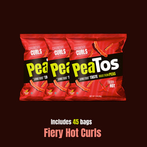 Peatos® fiery hot 45 bulk single serve bags