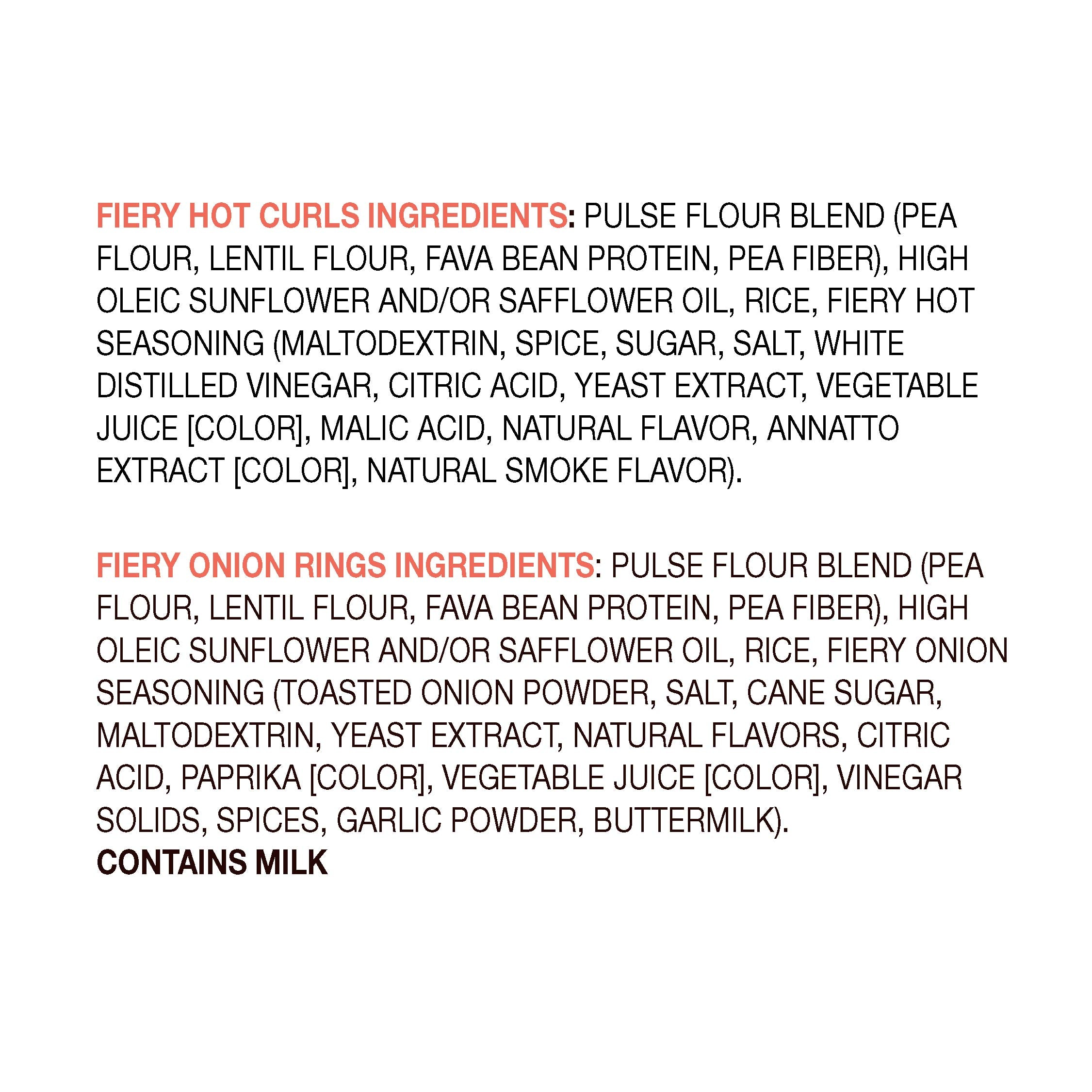 Peatos® fiery mix 15 single serve bags ingredients