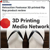 Retraction Footwear featured in 3D Printing Media Network