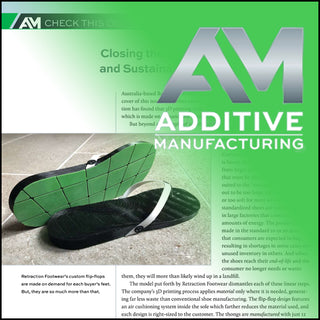 Additive Manufacturing Article on Retraction Footwear