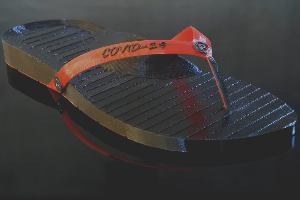 Retraction Footwear COVID-19 Thongs