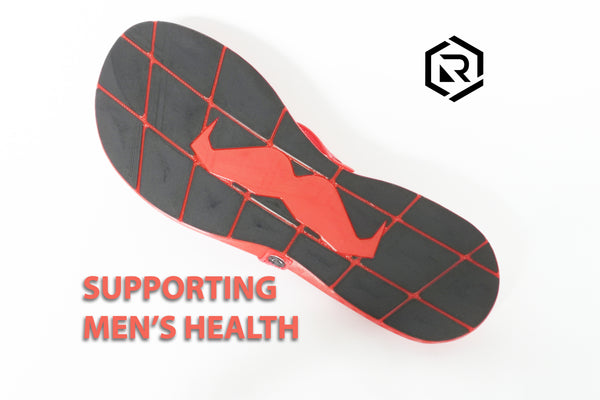 Retraction Footwear Movember Sole - Red and Black