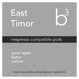 East Timor Pods (Nespresso Compatible, Compostable, 15 pack)