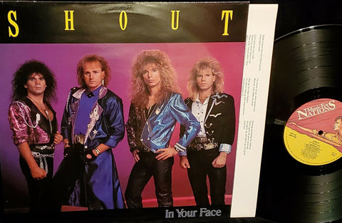 SHOUT - In Your Face LP (1989 Music For Nations Import)