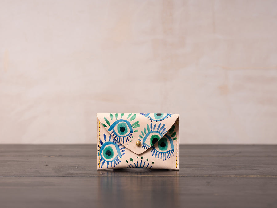 Hand Painted Wallet by Lilian Farag