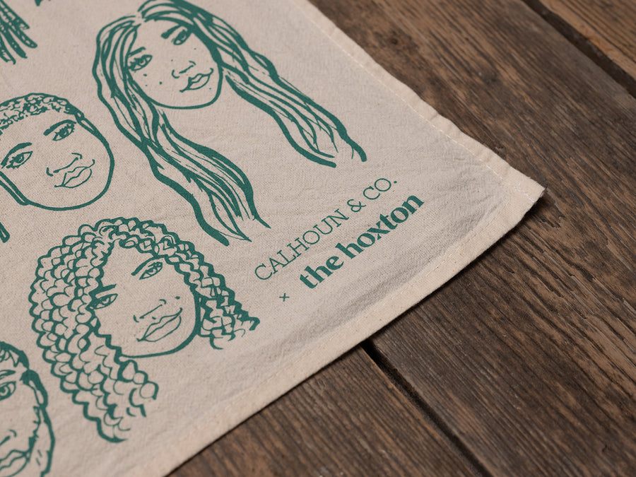 Hairstyles Tea Towel by Calhoun & Co