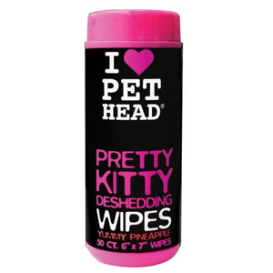 Våtserviett Katt Pet Head Pretty Kitty Deshedding  Wipes