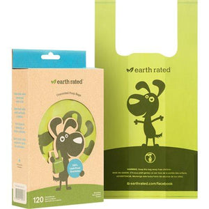 Earth Rated Hundeposer Unscented med håndtak 120stk