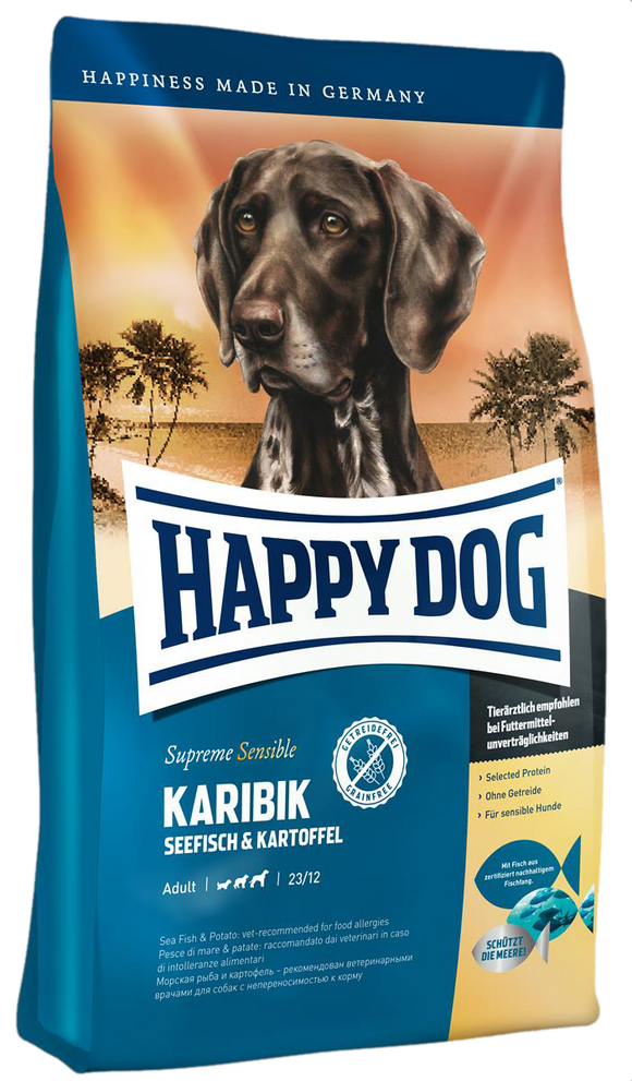 Happy Dog Supreme Sensitive Karibik Med/Maxi (Saltvannsfisk & Potet)