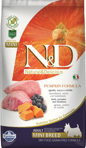 FARMINA N&D DOG PUMPKIN LAMB & BLUEBERRY ADULT MINI 2,5 KG