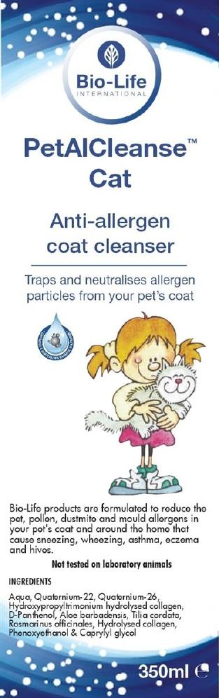 Bio-Life PetAI Cleanse CAT Anti-Allergi Pels Renser 350ml