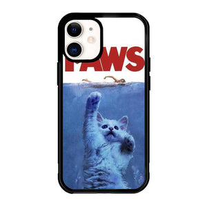 PAWS OVIE PARODY FUNNY CAT ATTACK F0586 iPhone 12 Mini Case