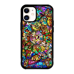 All Disney Heroes Stained Glass Z1417 iPhone 12 Mini Case
