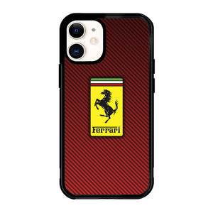 Ferrari Logo Red Carbon X4707 iPhone 12 Mini Case