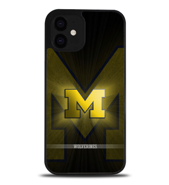 michigan wolverines logo A0984 iPhone 12 Case