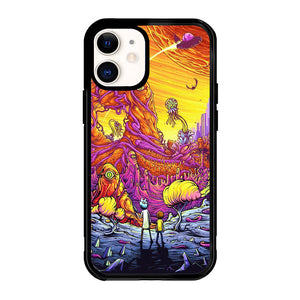 Rick And Morty World Full Colour X8963 iPhone 12 Mini Case