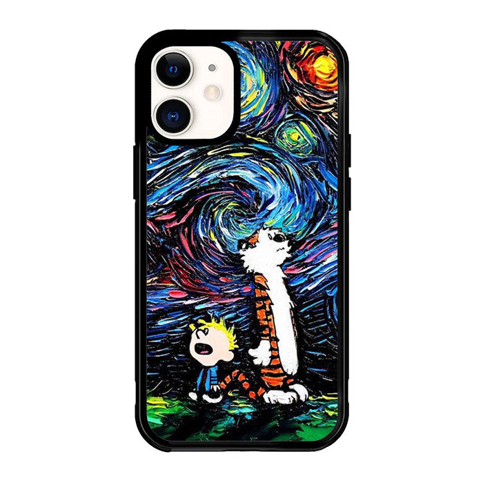 Calvin and Hobbes Art Starry Night X9177 iPhone 12 Mini Case