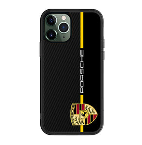 Porsche Stripe Carbon A3100 iPhone 12 Pro Case
