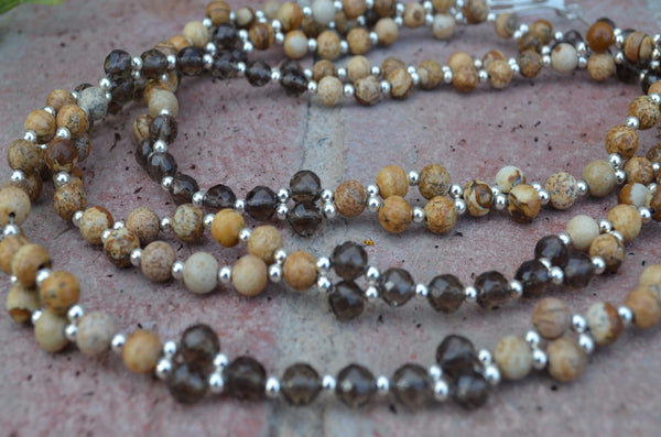 6mm Jasper & Smoky Quartz