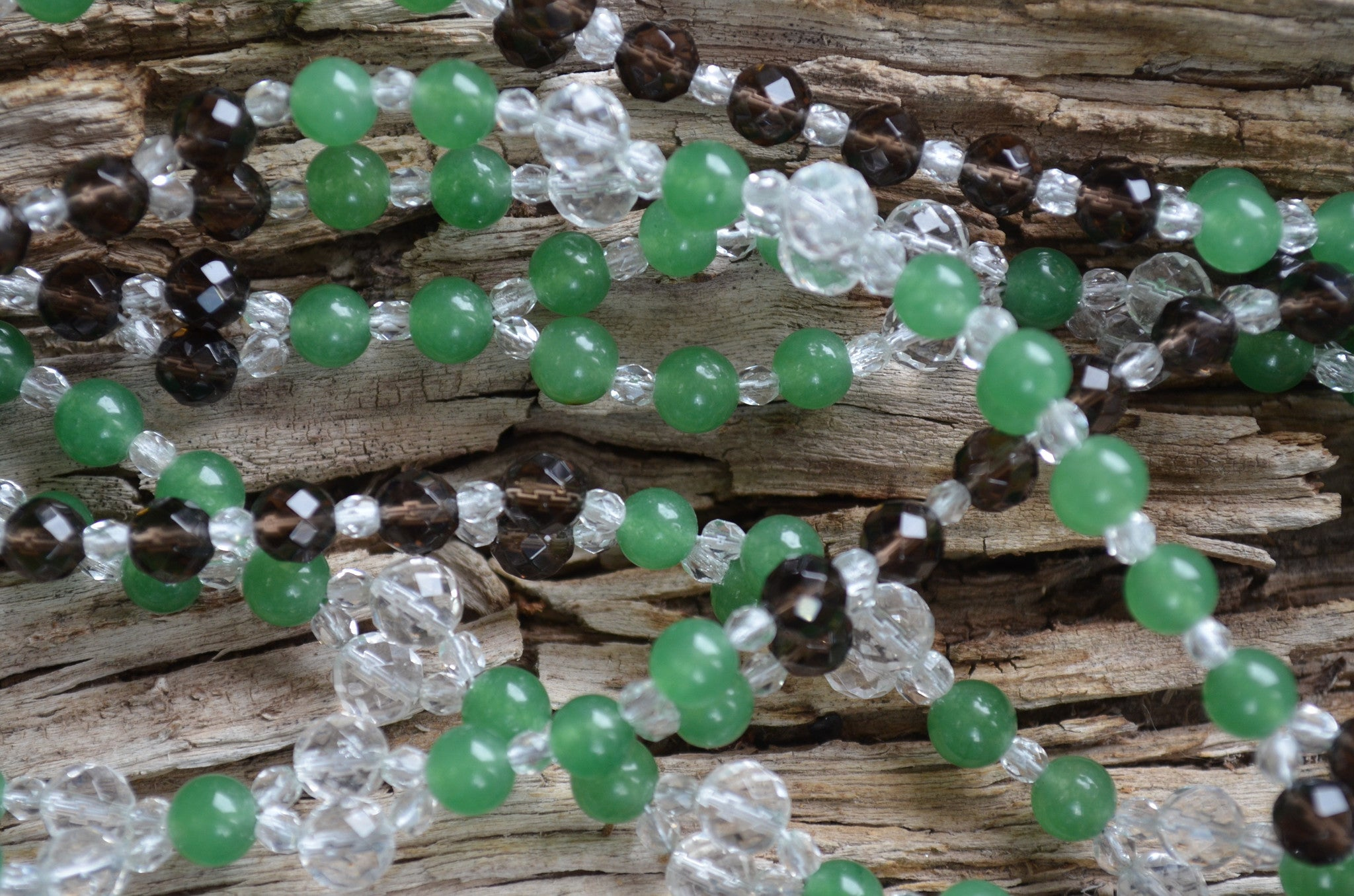 6mm Aventurine, Quartz, Smoky Quartz, Czech Crystal