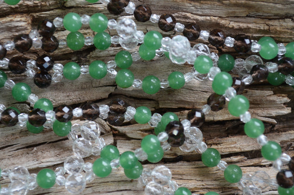 6mm Aventurine, Quartz, Smoky Quartz, Fire Polished Crystal