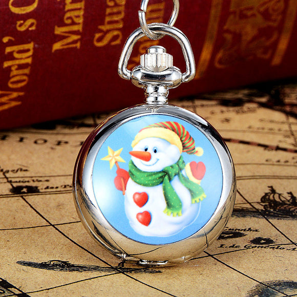 2017 Fashion New Vintage Bronze Copper Quartz Style Pocket Chain Necklace Watch Christmas Gift Pocket Watch