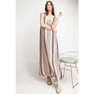 All in the Details Khaki Maxi Dress S-L - Apparel- Missy Sizes Small-Xlarge