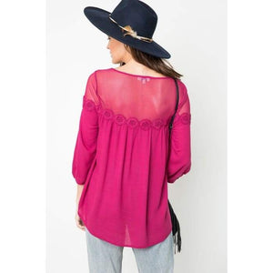 Berry Dream Mesh Baby Doll Tunic S-L - Apparel- Missy Sizes Small-Xlarge