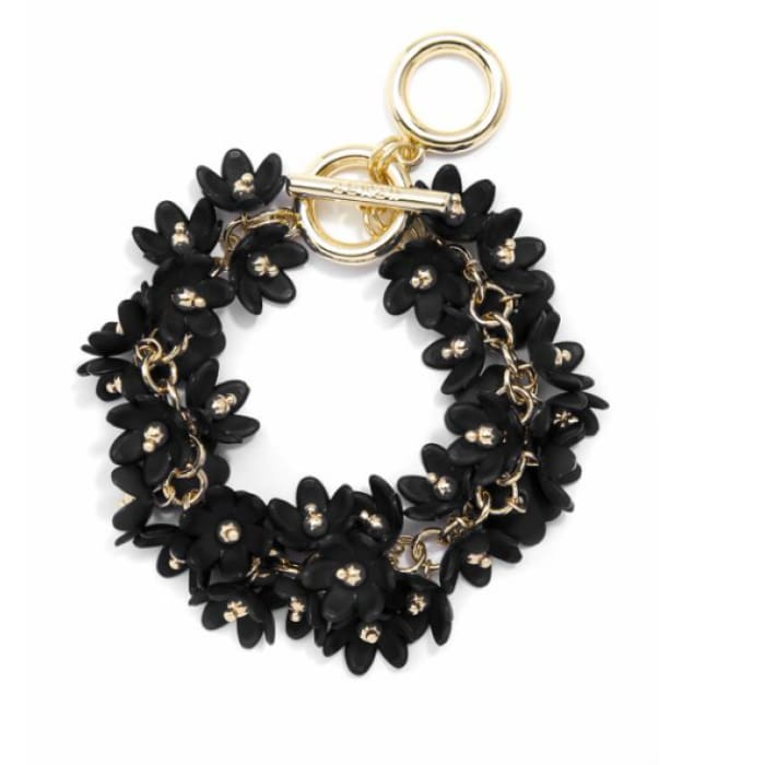 Bracelet Tiny Petals Black Zenzii - Accessories- Jewelry and Totes