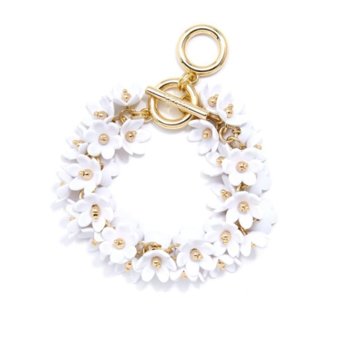 Bracelet Tiny Petals White Zenzii - Accessories- Jewelry and Totes