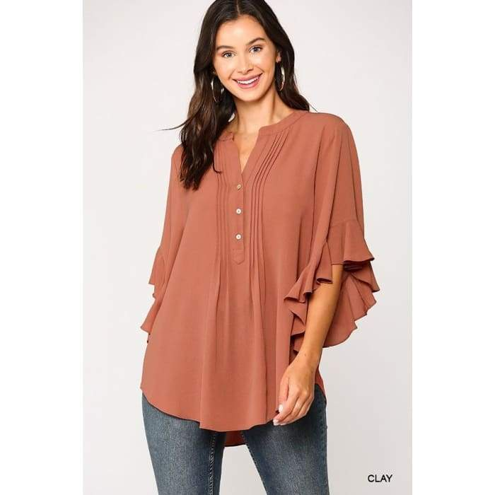 Casual is the new Cool Clay Top S-L - Apparel- Missy Sizes Small-Xlarge