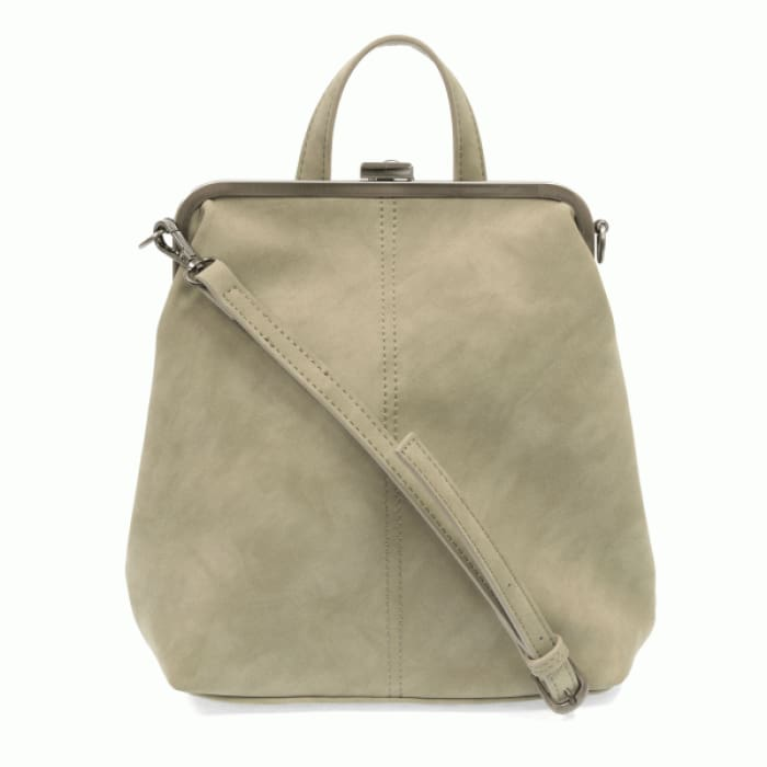 Cement Phyllis Nubuck Frame Convertible Purse Tote Backpack - Accessories- Jewelry and Totes