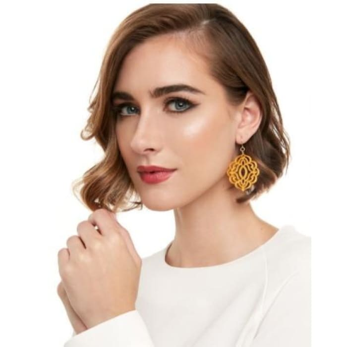 Earring Baroque Resin Drop Honey Zenzii - Accessories- Jewelry and Totes