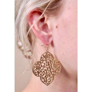Earring Ellery Filigree Drop Earring - Gold - Accessories- Jewelry and Totes