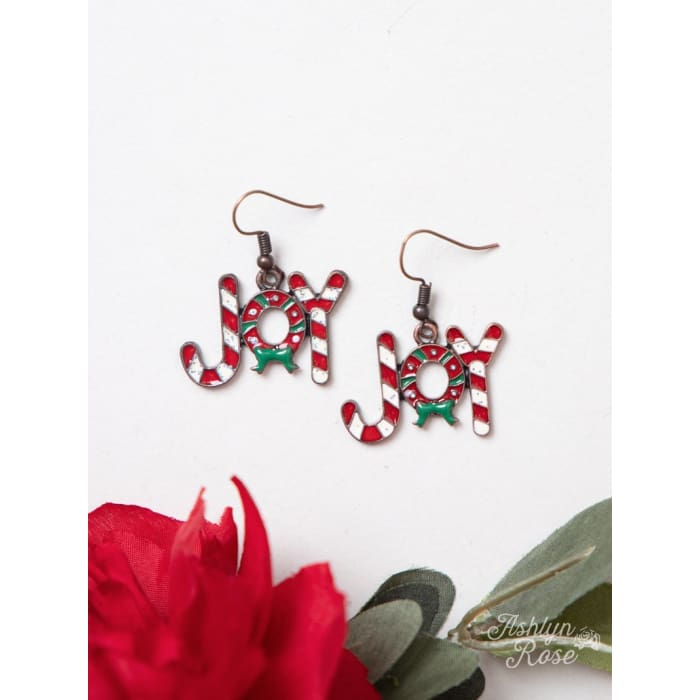 Earring Joy Candy Cane - Accessories- Jewelry and Totes