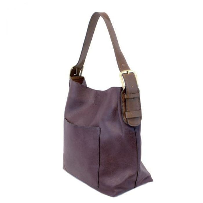 Eggplant Hobo Tote Coffee Handle - Accessories- Jewelry and Totes