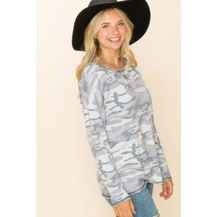 Hide in Style Plus Top Grey 1XL-3XL - Apparel - Plus Size 1XL - 3XL