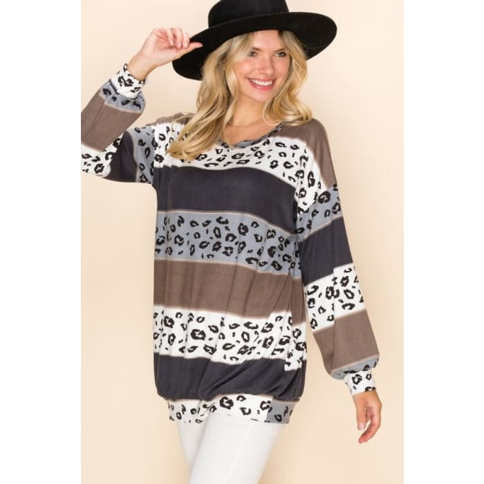 In a Mood Cheetah Cozy Top - Apparel - Plus Size 1XL - 3XL