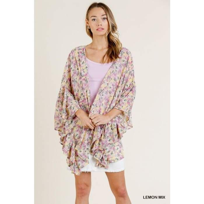 In my Lemon Garden Kimono Cardigan S-L - Apparel- Missy Sizes Small-Xlarge
