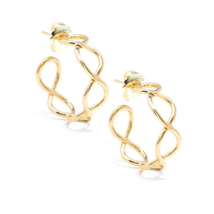 Infinity Gold Zenzii Hoop Earring - Accessories- Jewelry and Totes