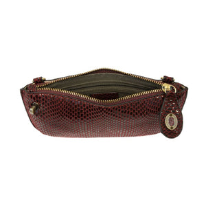 Jaci Burgundy Python Mini Crossbody Wristlet - Accessories- Jewelry and Totes