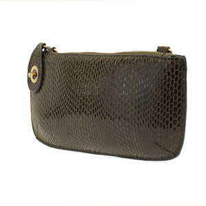 Jaci Olive Python Mini Crossbody Wristlet - Accessories- Jewelry and Totes
