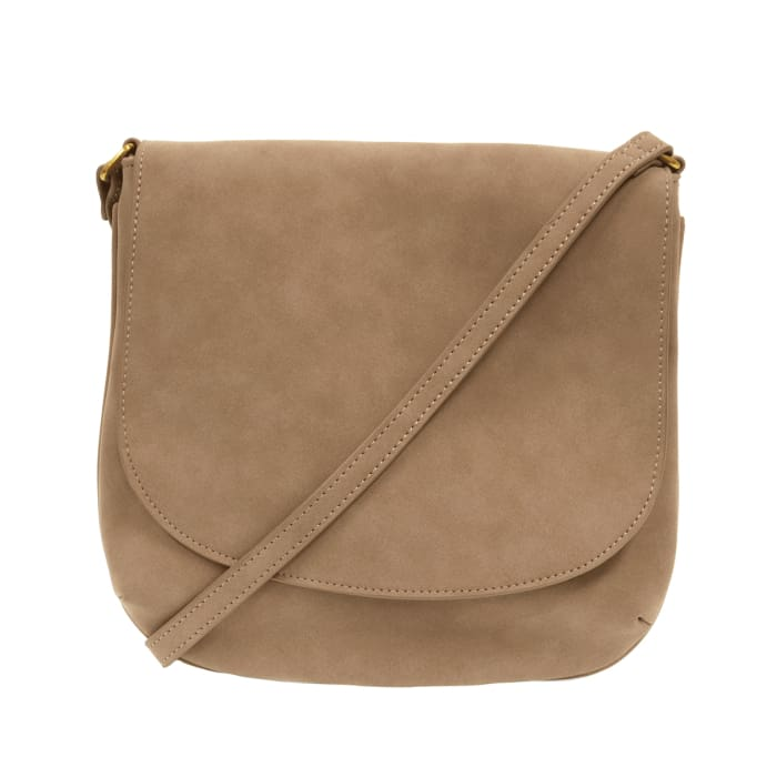 Jackie Large Flap Medium Crossbody Purse Tote Camel - Accessories- Jewelry and Totes