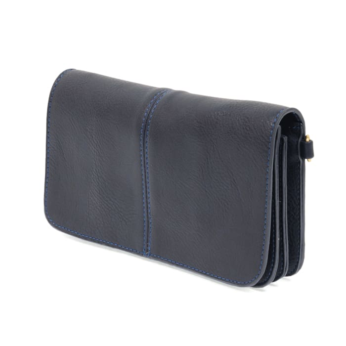 Navy Mia Multi Pocket Crossbody Clutch Purse - Accessories- Jewelry and Totes