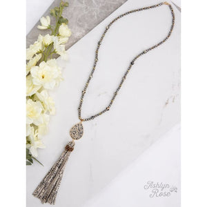 Necklace Tassel Trend Spotted Snake Beaded - Accessories- Jewelry and Totes